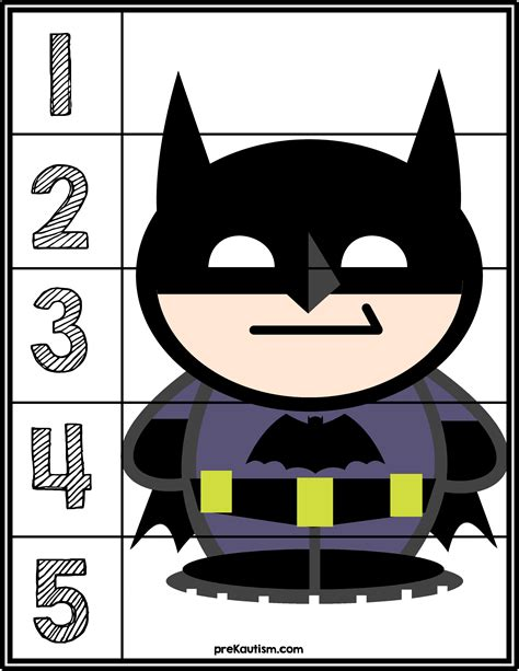 batman 1 5 counting puzzle activities for toddlers with 604 | 0d6e633ae8a69aed61f0826915ac3bff