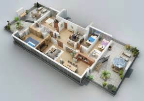 open concept house plans apartment designs shown with rendered 3d floor plans