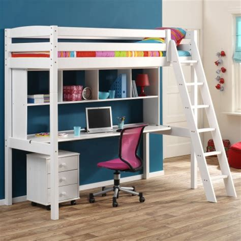 lit et bureau focus sur le lit en hauteur ou lit mezzanine le roi du