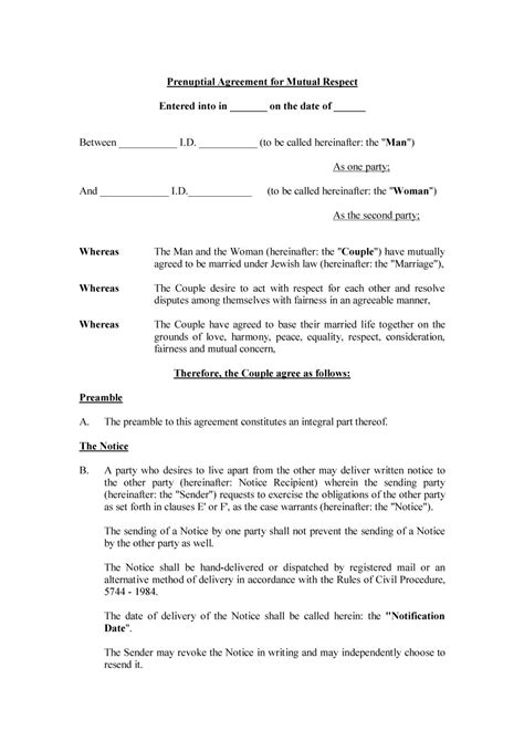 prenuptial agreement samples forms