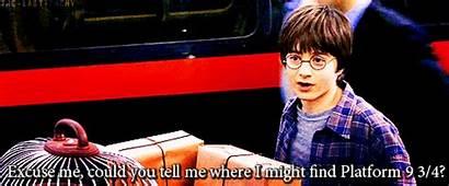 Platform Potter Harry Hogwarts Express Gifs Board