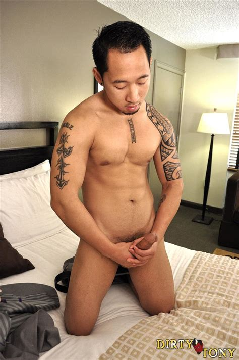 Amateur Asian Guy In Business Suit Stroking His Huge Asian