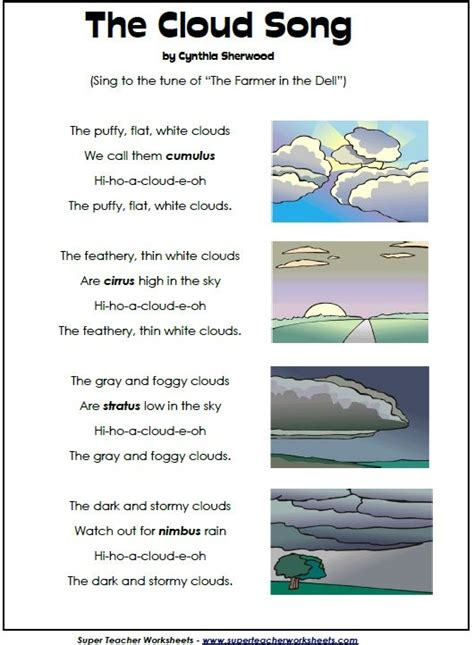 types of clouds engaging activities to help retain