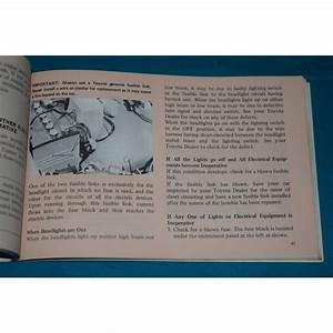 Original 1972 Toyota Corona Owners Manual