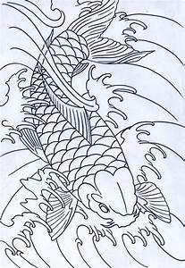 Black Koi Outline by IAmTheSorrow on DeviantArt