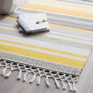 Tapis Jaune Et Gris : tapis gris jaune ~ Teatrodelosmanantiales.com Idées de Décoration