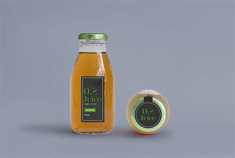juice packaging psd mock