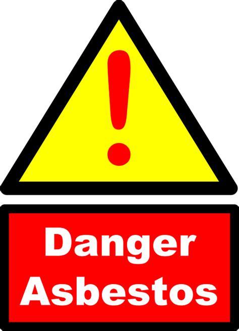 vector graphic asbestos danger warning