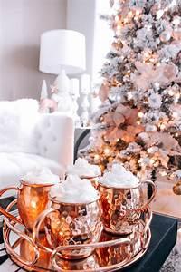 Rose Gold Decor : blush pink rose gold white christmas decor ~ Teatrodelosmanantiales.com Idées de Décoration