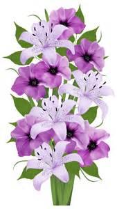 Purple Flower Bouquet Clip Art