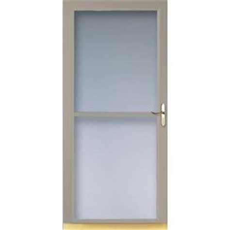 larson retractable screen door shop larson 32 in w sandstone retractable screen