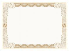 simple gold certificate border  template
