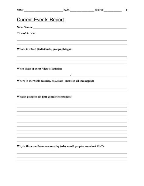 Best 25+ Current Events Worksheet Ideas On Pinterest  Current Events News, Current Events