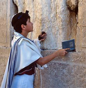 Israel Jerusalem Sephardic Jewish boy praying at the ...