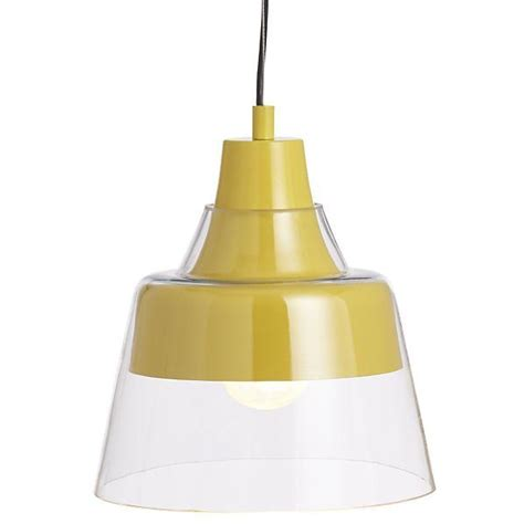 webster yellow pendant l crate and barrel