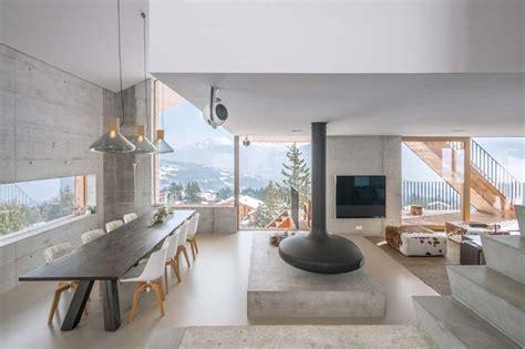 cuisine design moderne un minimaliste et éclectique design intérieur pour ce chalet de montagne familial au cœur des