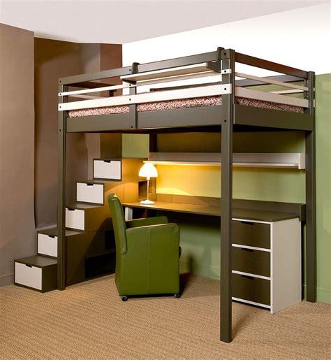 lit mezzanine avec bureau int r lit mezzanine ado avec bureau et rangement