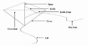 Basic Parts Of A Flat Diamond Kite