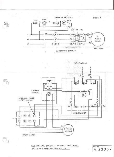 Single Phase Reversing Switch Wiring by 3 Phase Drum Switch Diagram Parts Wiring Diagram Images