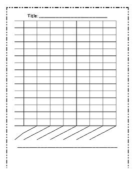 bar graph template blank bar graph template 7 columns by mrs cassady tpt