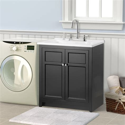Home Depot Bathroom Sinks And Cabinets by Conyer 30 In Laundry Sink With Cabinet Faucet Kit