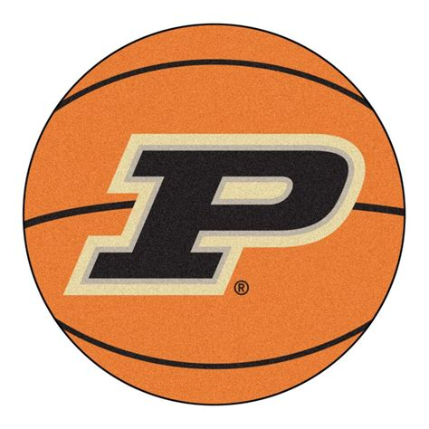 fanmats ncaa purdue university p logo orange  ft