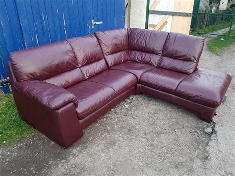 Scs Leather Settees by Scs Real Soft Leather Corner Sofa In Leicester