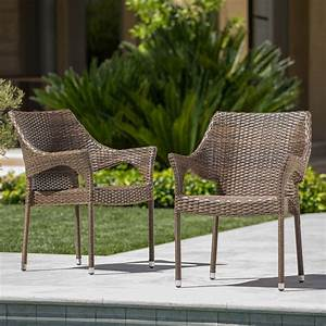Christopher, Knight, Home, Mirage, Outdoor, Wicker, Stacking, Chairs, 2