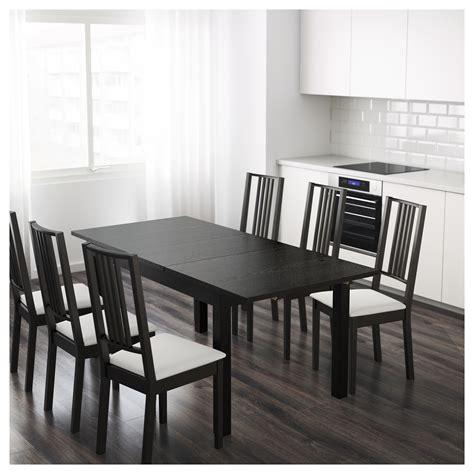 dining room tables ikea bjursta extendable table brown black 140 180 220 x 84 cm 6713