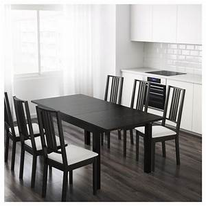 BJURSTA Extendable Table Brown Black 140180220 X 84 Cm