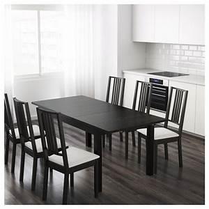 Table Ikea Extensible : bjursta table extensible brun noir 140 180 220 x 84 cm ikea ~ Melissatoandfro.com Idées de Décoration