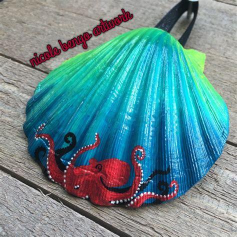 pin  roxanne   sea shells seashell painting