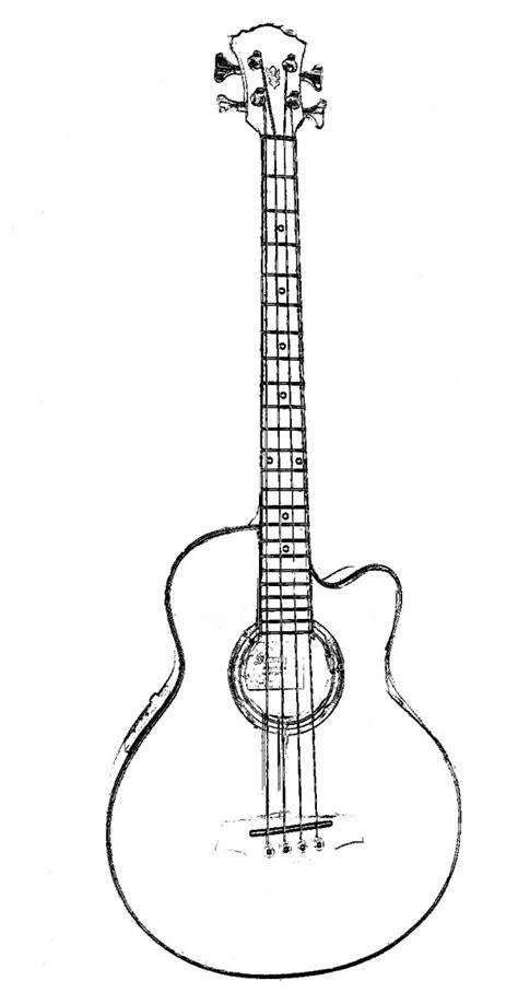 imagenes de guitarras  colorear colorear imagenes
