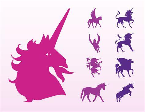 Unicorns And Horses Silhouettes