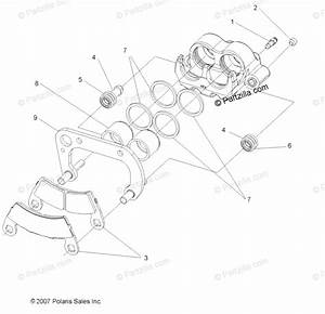 Polaris Side By Side 2008 Oem Parts Diagram For Brakes
