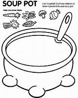 Soup Pot Preschool sketch template
