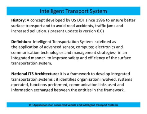 Iot Applications For Connected Vehicle And Its