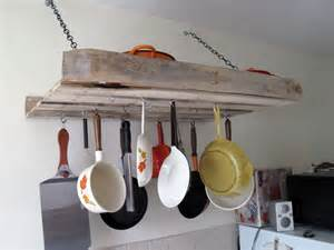 kitchen island hanging pot racks diy furniture projects made of whole pallets