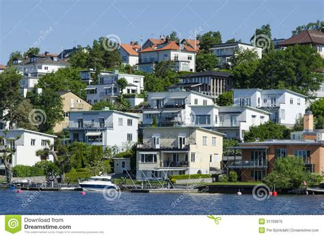 Swedish Waterside Housing Bromma Editorial Photo Image
