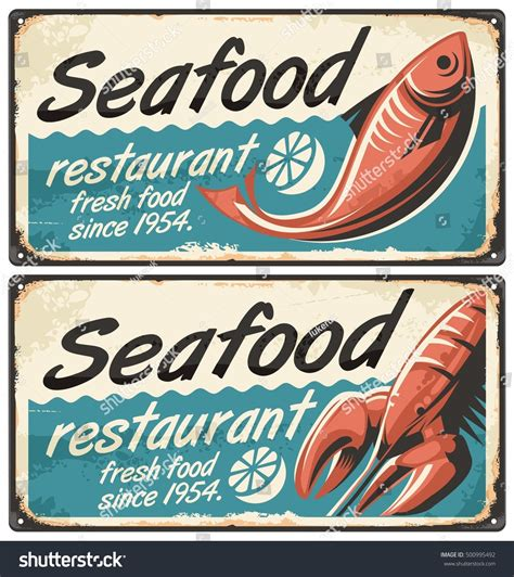 Seafood Restaurant Vintage Signs Stock Vector 500995492. Hindi Signs. Pbis Signs. Dlj Ral Signs. Ego Signs. Safari Signs Of Stroke. Leg Foot Signs. Diebetic Signs. Caution Sign Signs