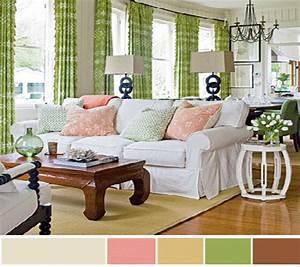 Window curtains ideas for living room in green home for Interior decorating colour scheme ideas