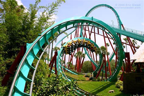 Busch Gardens Williamsburg Rollercoasters by Interlocking Corkscrews Photo Kumba Busch Gardens Tampa