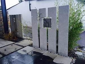 Brise Vue Design : brise vue granit gris toutes faces flamm es min ral ~ Farleysfitness.com Idées de Décoration
