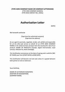 authorization distributor letter sample distributor With authorization letter template for business
