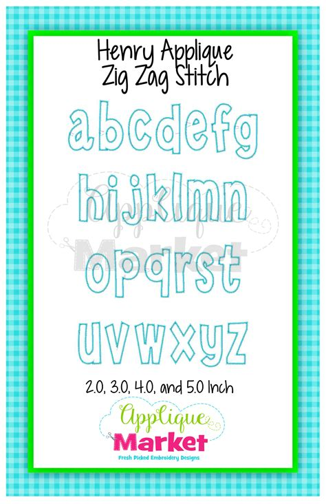 Applique Market by Henry Applique Alphabet Applique Design