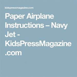 Paper Airplane Instructions  U2013 Navy Jet