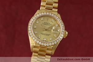Rolex Lady Datejust 18k Gold Automatik Kal 2135 Ref