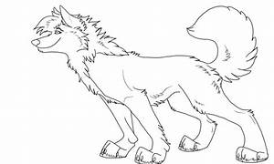 Free anime wolf page coloring pages