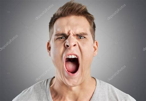 Angry man screaming — Stock Photo © billiondigital #161276248