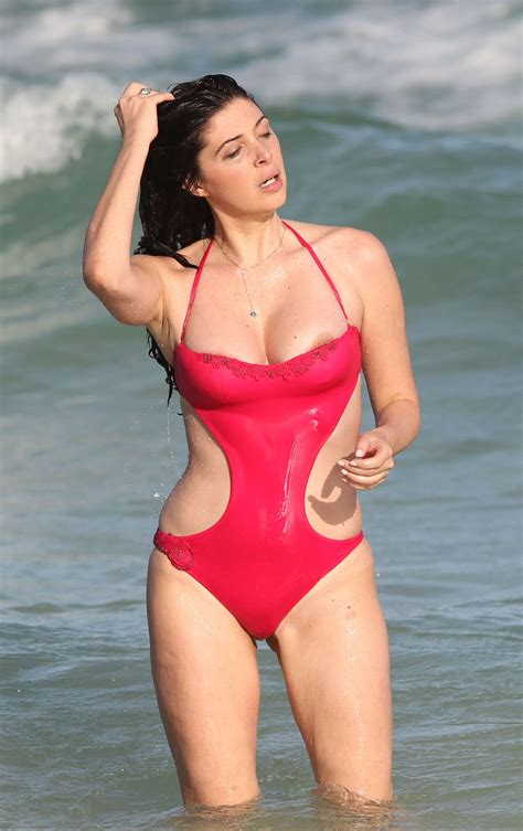 Brittny Gastineau in Red Swimsuit -40 - GotCeleb
